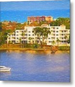 Yacht On The Water Metal Print