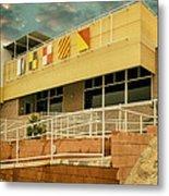 Yacht Rock Vintage Effect North Shore Yacht Club Salton Sea Metal Print