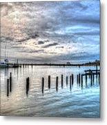 Yacht Storming Morning Metal Print