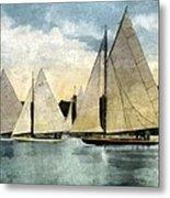 Yachting In Saugatuck Metal Print