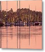 Yachts At Dawn Metal Print
