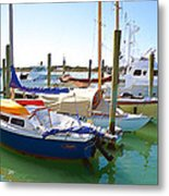 Yachts In A Port 4 Metal Print