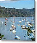 Yachts In A Quiet Estuary Metal Print