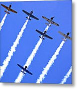Yak 52 Formation Metal Print by Phil 'motography' Clark
