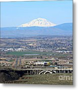 Yakima Valley Outlook With Mount Adams Metal Print