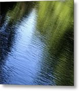 Yamhill River Abstract 24849 Metal Print