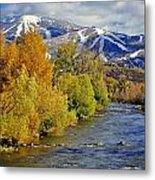 Yampa River Fall Metal Print