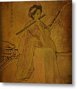 Yang Plays The Flute Metal Print