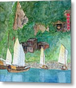 Yangtze Boats Metal Print