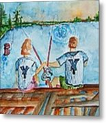 Yankee Fans Day Off Metal Print