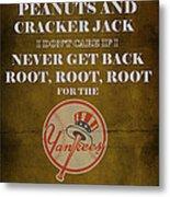 Yankees Peanuts And Cracker Jack  Metal Print