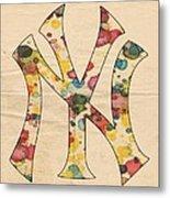 Yankees Vintage Art Metal Print