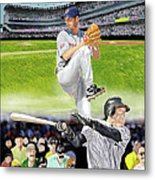 Yankees Vs Indians Metal Print
