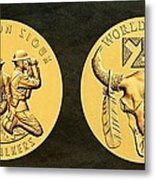 Yankton Sioux Tribe Code Talkers Bronze Medal Art Metal Print