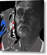 Yaqui Pascola Dancer Smoking Cigarette New Pascua Arizona 1969-2013 Metal Print