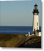 Yaquina Head Lighthouse 4 D Metal Print
