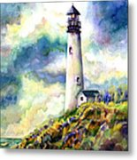 yaquina Head Lighthouse Metal Print by Ann  Nicholson