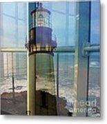 Yaquina Head Lighthouse Mirage  Metal Print