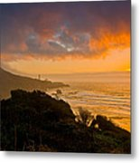 Yaquina Head Lighthouse Sunset. Metal Print