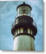Yaquina Head Lighthouse Texture Metal Print