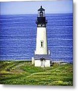 Yaquina Lighthouse From The Big Hill Metal Print