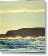 Yaquinas Rolling Waves Metal Print by Sheldon Blackwell