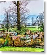 Yard Of Scrap Metal Print