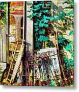 Yard Sale Antiques - Horizontal Metal Print