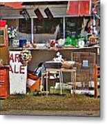 Yard Sale Metal Print