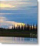 Yarger Lake Sunset Metal Print