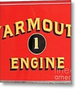 Yarmouth Engine 1 Metal Print
