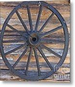 Yates Mill Wagon Wheel Metal Print by Kevin Croitz