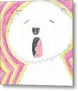 Yawning Doggie Metal Print