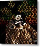 Yawning Panda  Metal Print
