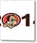Year Of Horse 2014 Mascot Metal Print by Aloysius Patrimonio