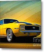 Yellow 1969 Camaro Ss Metal Print