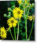 Yellow Achieve Metal Print