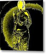 Yellow And Black Woman Metal Print