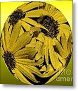 Yellow And Gold Metal Print