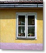 Yellow And Pink Facade. Belgrade. Serbia Metal Print