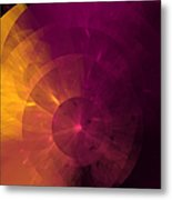 Yellow And Purple Umbrella Top Abstract  Metal Print