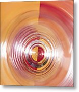 Yellow And Red Abstraction Metal Print