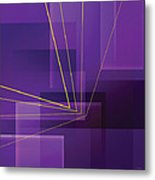 Yellow Angles Through Purple Landscape Metal Print