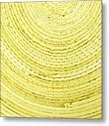Yellow Arcs Metal Print
