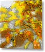 Yellow Autumn Metal Print