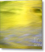 Yellow Autumn Reflections Metal Print