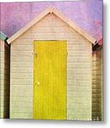 Yellow Beach Hut Metal Print