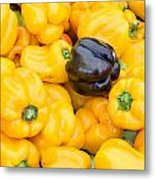 Yellow Bell Peppers Metal Print