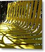 Yellow Bench Metal Print