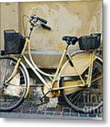 Yellow Bicycle In Copenhagen Metal Print